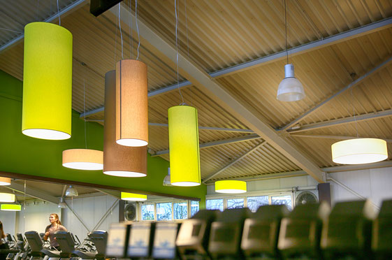 Beleuchtung für Fitnessstudio