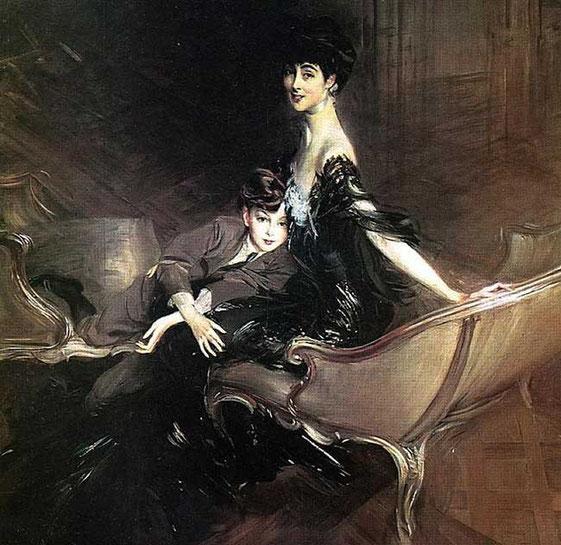 Консуэло герцогиня Мальборо с сыном Айвор Спенсер Черчилль