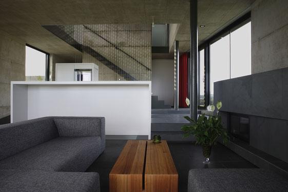 Modernes Wohnzimmer, Beton natur