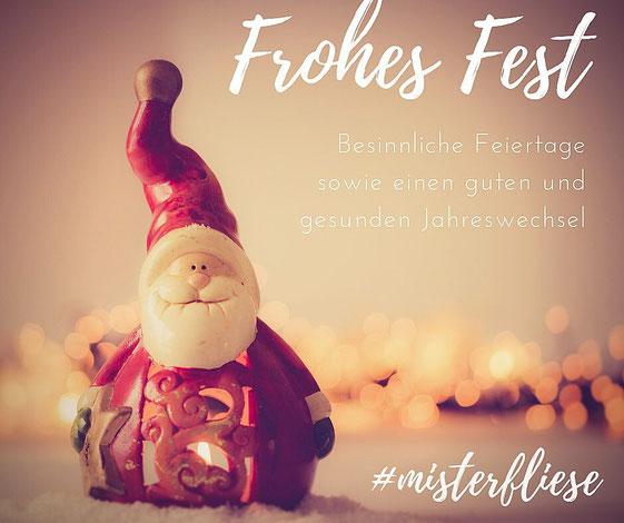 Mister Fliese wünscht Fröhliche Weihnachten und ein gesundes Neues Jahr!