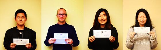 SAKURA奨学金を受賞した4名