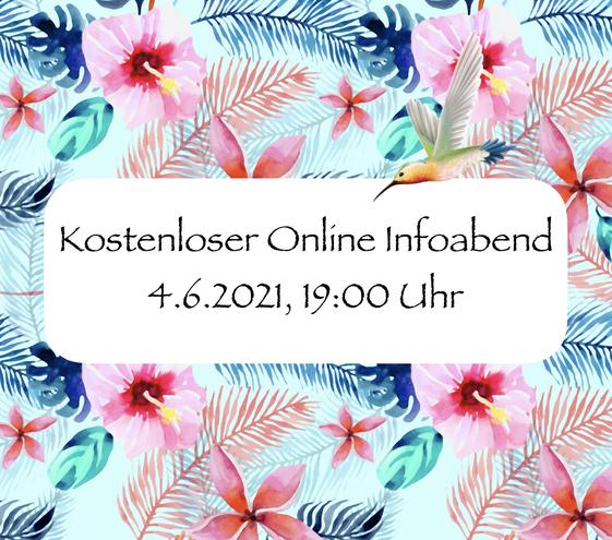 kostenloser online infoabend 4.6.2021, 19:00 Uhr