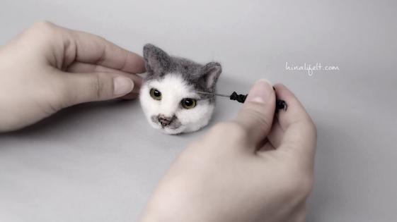 hinalifelt ヒナリ羊毛フェルト猫