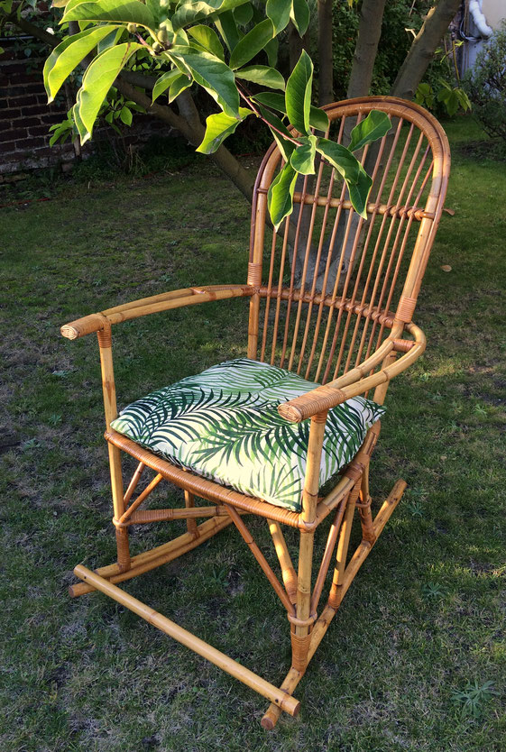 rocking-chair rotin, rocking-chair vintage, rocking-chair osier