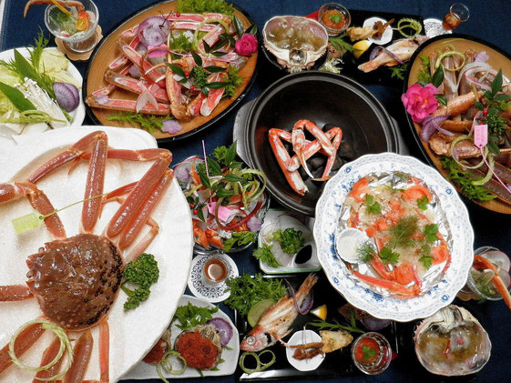 松葉ガニ料理膳 (夕食)
