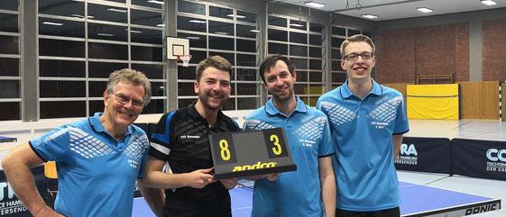Die 2. Mannschaft von links Dr. Dieter Berger, Lars Stelzer, Stefan Wirtz und Tobias Dörr
