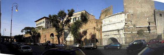 Scorcio della Villa Gentili-Dominici dalla Porta Tiburtina