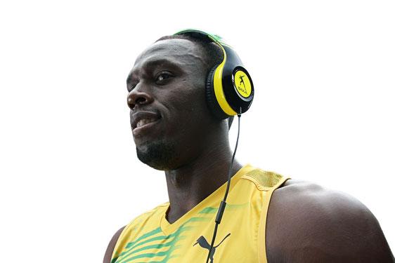 Usain Bolt, corredor 100 m y 200 m en pista, record mundial