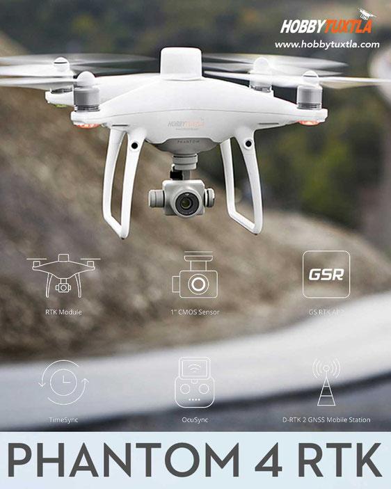 Drones Phantom 4 RTK son una solución completa y conveniente para fotogrametría con UAVs