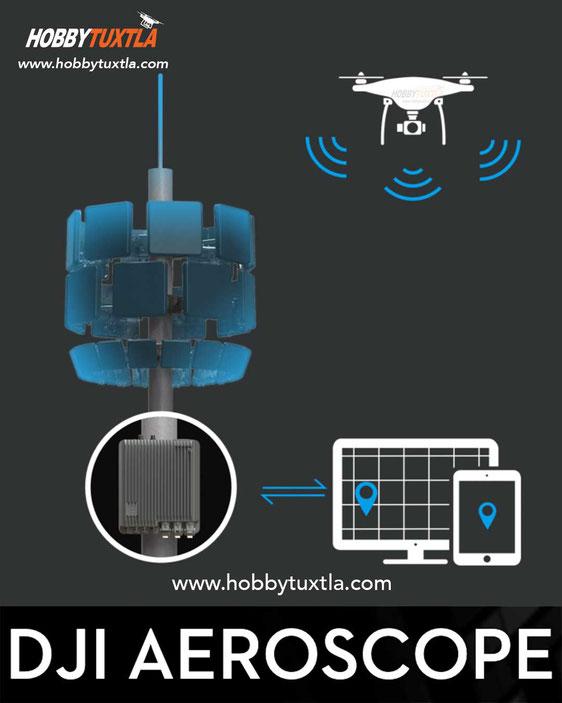 Aeroscope es una solución para detectar drones y su información dentro de un rango de 50 kilómetros