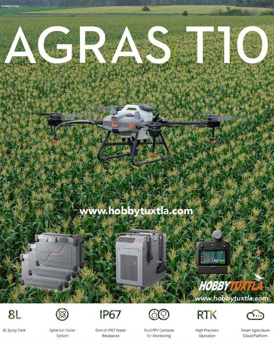 AGRAS MG 1P dron fumigador de 10 Litros, el DJI más económico