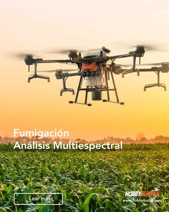 Drones para agricultura ayudan en la fumigación y análisis de cultivos