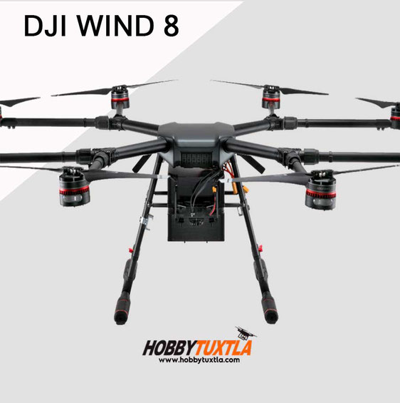 Drones profesionales Wind 8 pueden volar hasta 2 horas y cargar 10kg