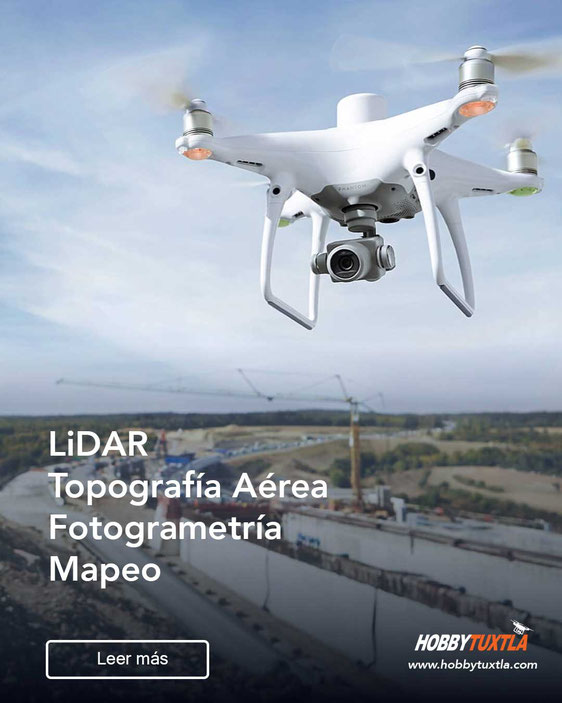 Drones con LiDAR y cámaras RGB para topografía aérea, fotogrametría y mucho más solo aquí