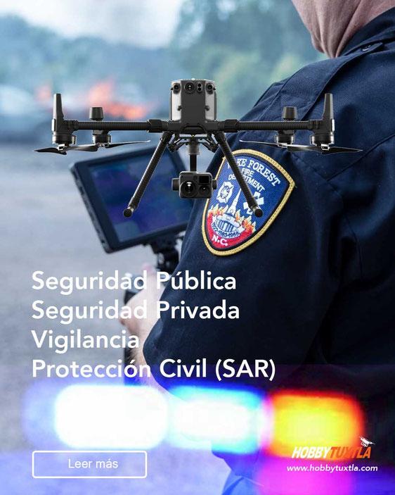 Seguridad Pública con drones te ayudan como equipo de respuesta rápida, primero los drones
