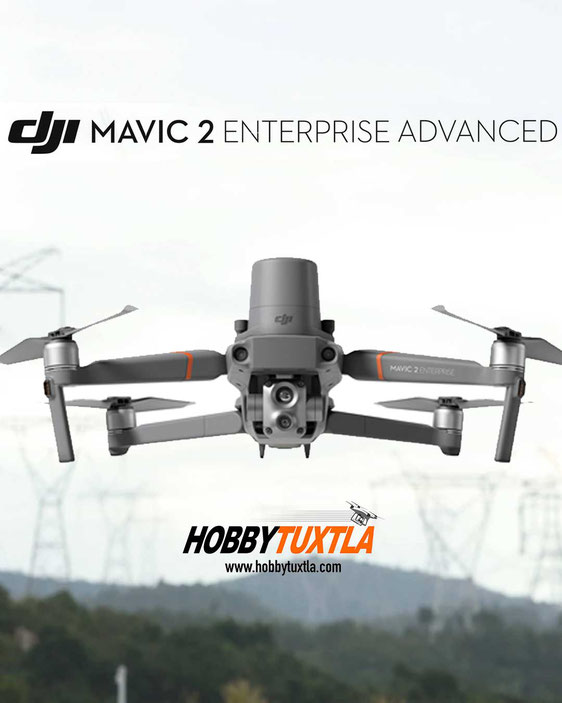 Mavic 2 Enterprise Advanced es un dron para labores de vigilancia, inspecciones, búsqueda y rescate gracias a su cámara térmica, zoom industrial y hasta 48 MP
