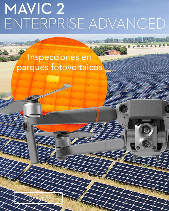 Mavic 2 Enterprise Advanced Parques Solares fotovoltaicos