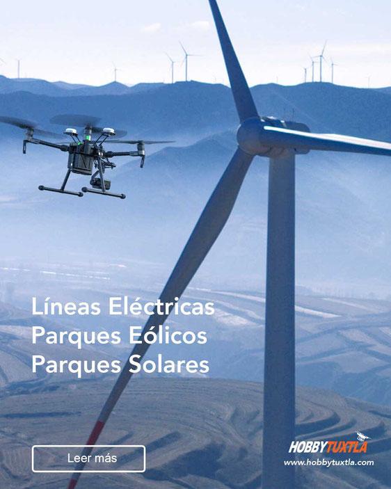 Drones para inspecciones de líneas eléctricas, parques eólicos, parques fotovoltaicos o parques solares