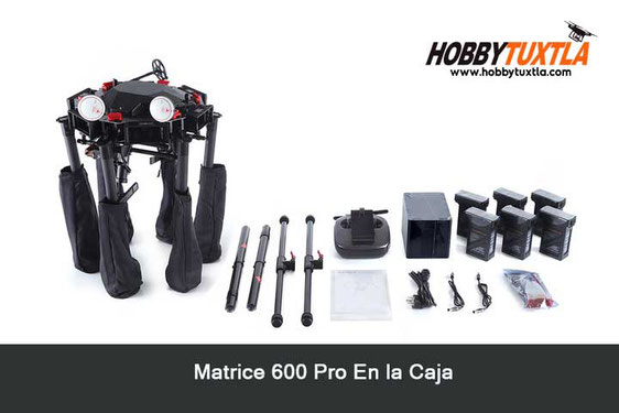 Que incluye Matrice 600 Pro en la caja IN THE BOX