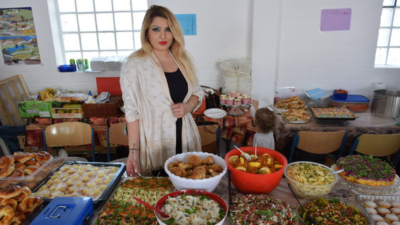 Vielfältige türkische Spezialitäten bot das reichhaltige Buffet.