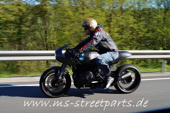BMW R nineT Halbschale Fahrfotos Mario