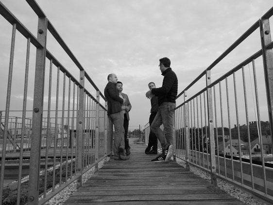 Pausengespräche auf dem Dach, Foto N. Hildesheim