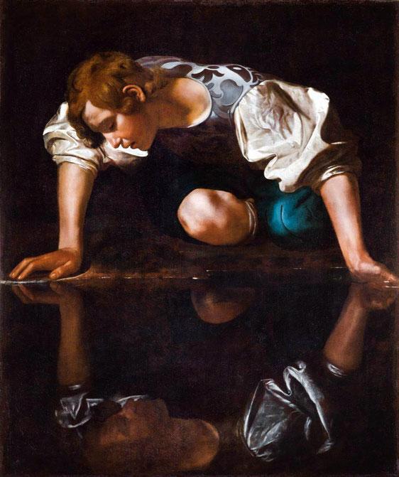 Michelangelo Merisi da Caravaggio, Narziss, 1597–1599, Öl auf Leinwand, Gallerie Nazionali di Arte Antica, Rom © Gallerie Nazionali di Arte Antica, Rom, Foto: Mauro Coen