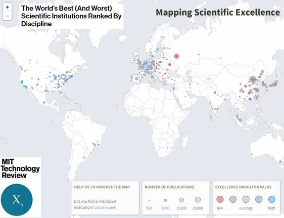 The World's Best Scientific Institutions Ranked By Discipline - MIT Review