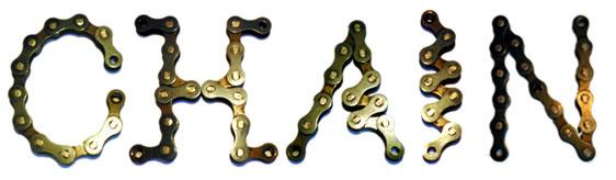 Chain lettertype Typografisch experiment