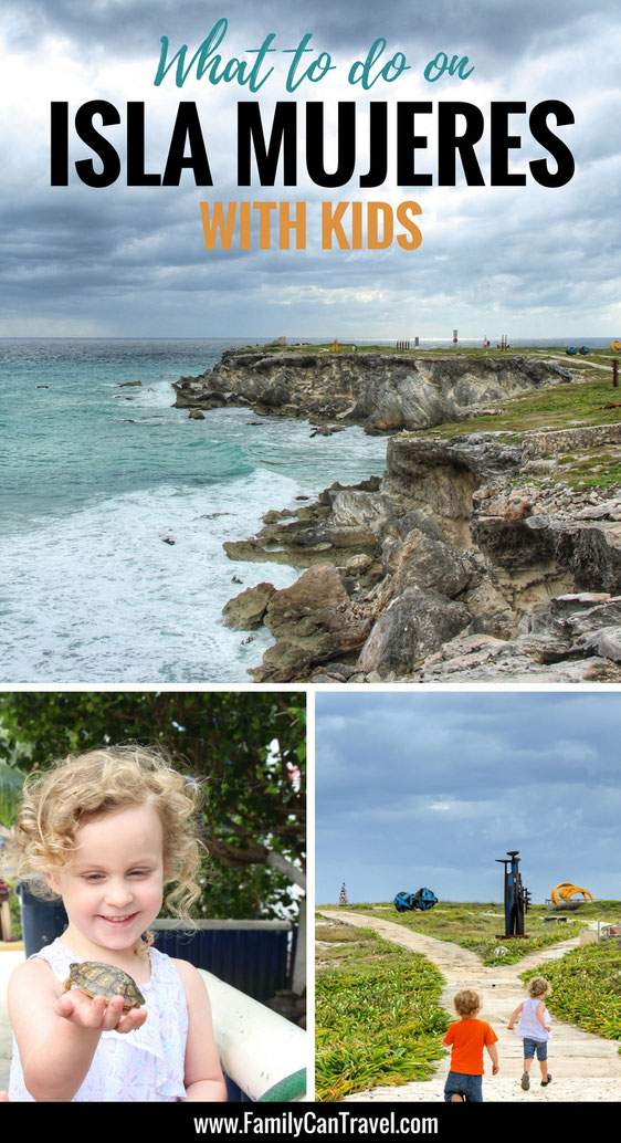 Isla Mujeres is a great day trip with kids from Cancun or Playa del Carmen. Read more on having an amazing day on Isla Mujeres Mexico with kids. | Family Travel | Travel with kids | Mexico | #familytravel #mexico #islamujeres