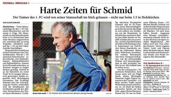 Ga-Pa Tagblatt vom 20.10.2014