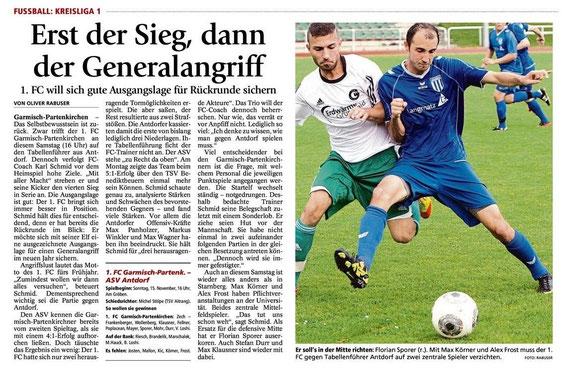 GaPa Tagblatt vom 15.11.2014
