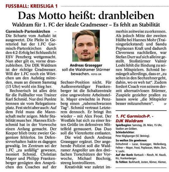 GaPa Tagblatt vom 28.03.2015