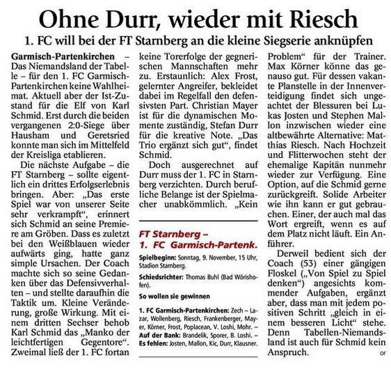 GaPa Tagblatt vom 08.11.2014