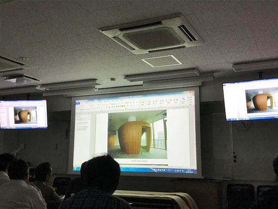 突板の3D曲面使用例