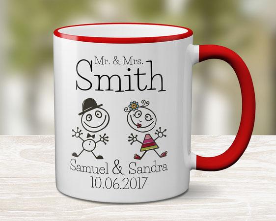Bedruckte Tasse Hochzeitspaar