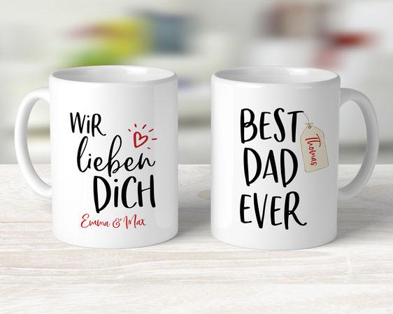 Tasse personalisiertes Geschenk Vatertag