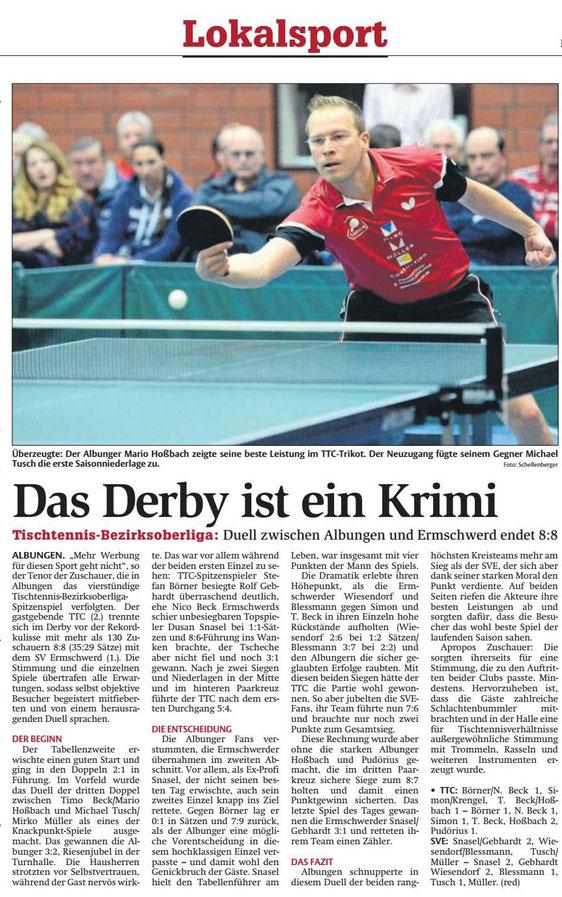 Werra-Rundschau vom 15.11.2016