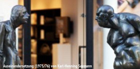 """Skulptur """"Auseinandersetzung"""" von Karl-Henning Seemann"""