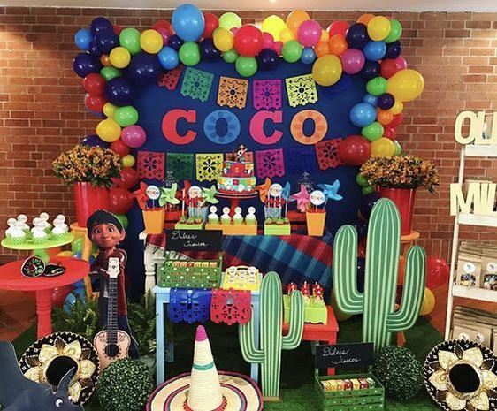 decoracion cumpleaños coco