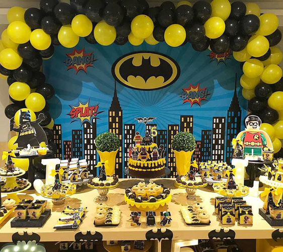 decoracion fiesta de batman