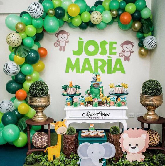 decoracion fiesta de la selva