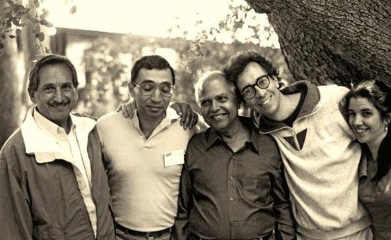 ( L-R ) Henry, unknown, Bhau Kalchuri, Bob Brown & Jane Viscardi Brown
