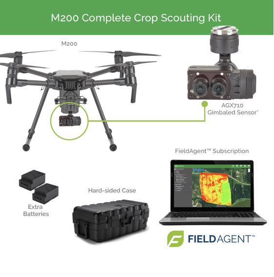 Ofrecemos una solución completa para el análisis de cultivos con drones DJI y cámaras multiespectrales Sentera