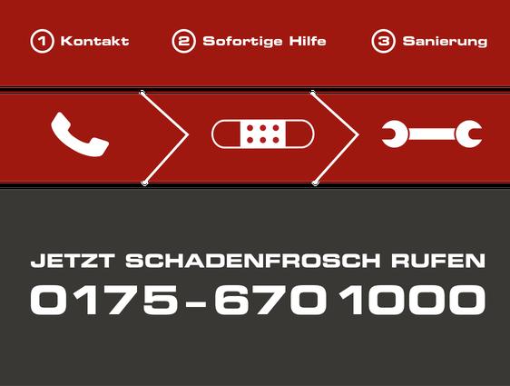 Notruf Schadenfrosch: 0175 - 670 1000