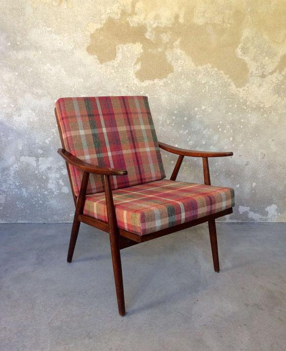 fauteuil boomerang de thonet, fauteuil scandinave, fauteuil vintage