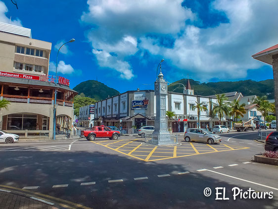 Victoria Clock tower, Mahe, Seychellen