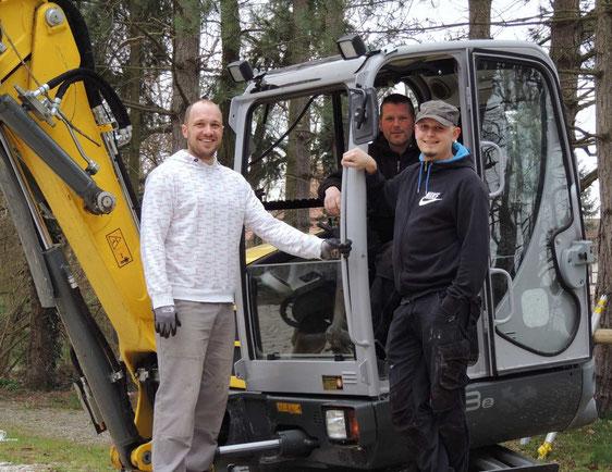 Fabian, Rainer und Patrick vom Mobsey e.V.