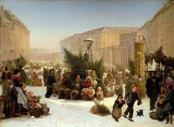 David Jacob Jacobsen. (Danish, 1821-1871) Продажа новогодних ёлок