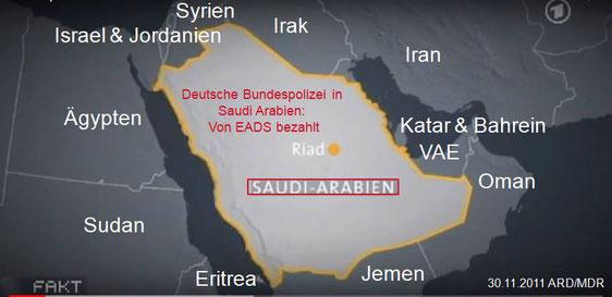 30.11.2011 ARD/MDR - FAKT Heikles Know-How aus Deutschland für Saudi-Arabien